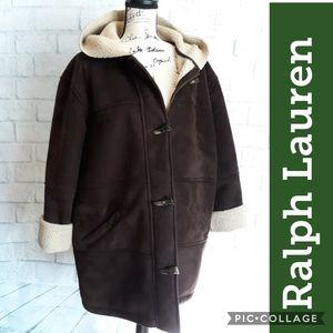 Real Ralph Lauren faux sherling coat